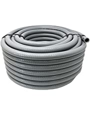 """Conduit and Connector Kit, 1/2"""" Inch 25 Foot Flexible Non-Metallic Liquid-Tight Conduit Type B with 4 Liquid Tight Nonmetallic Straight and 2 90° Liquid Tight Nonmetallic Conduit Connectors"""