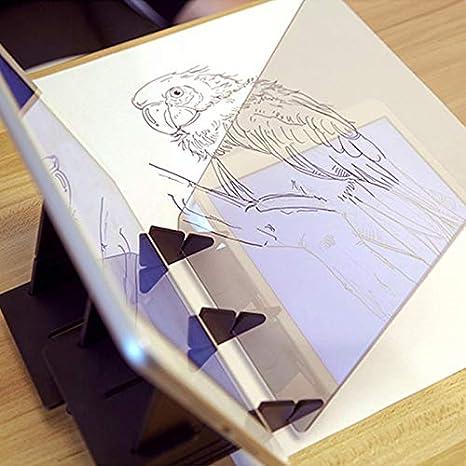 Percetey Zeichenbrett Optisch Zeichnen Projektor Sketch Wizard Tracing Drawing Board Skizze Assistent Malen Acryl Comics Reflexionstabelle Kopierblock Easy Kit