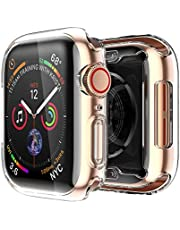 smiling Apple Watch 4 Clear Case with Buit in TPU Screen Protector 44mm- All Around Protective Case High Definition Clear Ultra-Thin Cover Apple iwatch 44mm Series 4 (2 Pack)