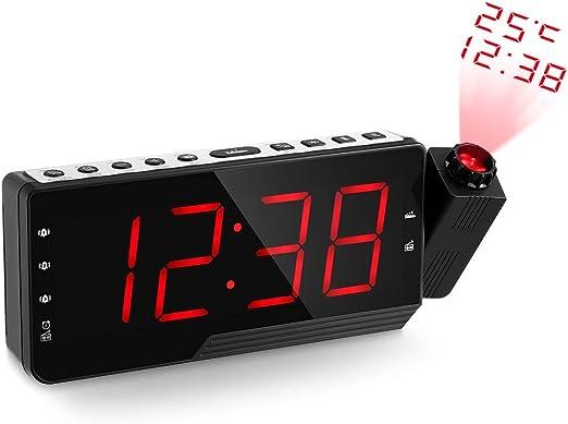CZTY Radio Proyector Digital de Alarma Snooze del Temporizador de ...