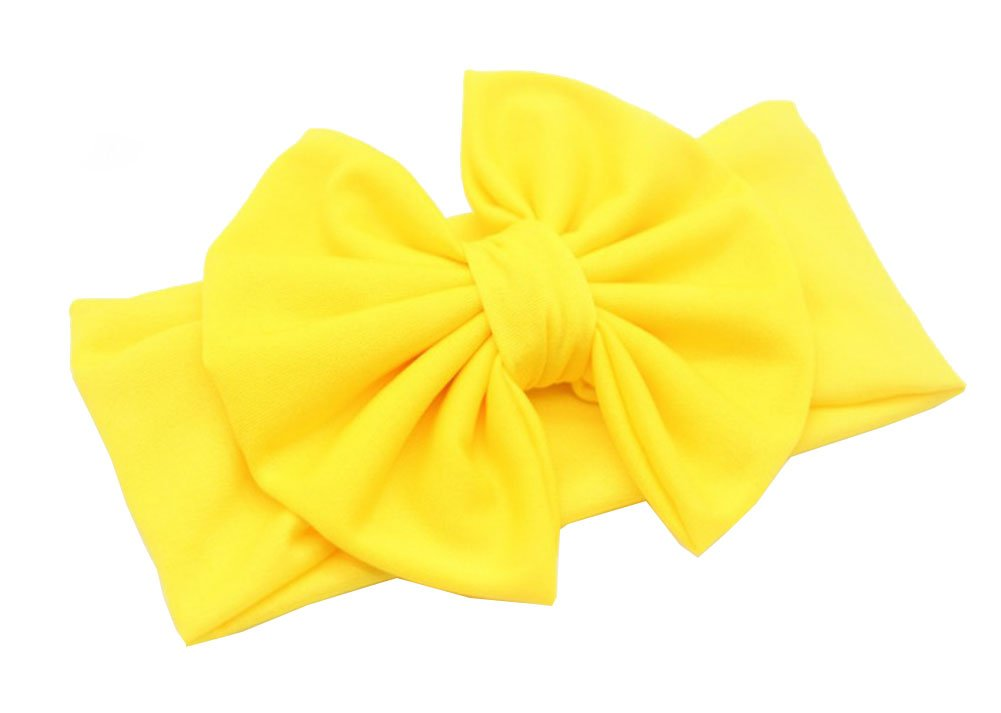 Gelb CAOLATOR M/ädchen Babyhaarband Kinderhaarschmuck Kinder gro/ßen Bogen Band Stirnband Zierde