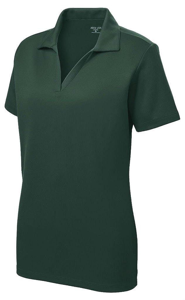 Womens Dri-Equip Short Sleeve Racer Mesh Polo Shirts in Size XS-4XL