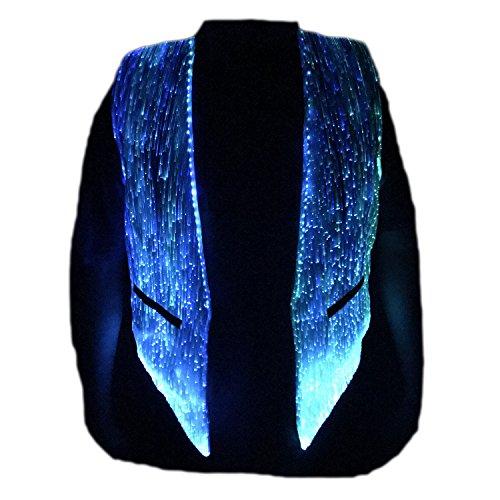LED Fiber Optic Waistcoat Light up Vest for Men Fashion Glow in...