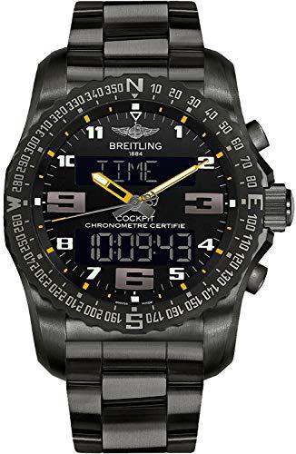 (Men's Breitling Cockpit B50 Black Titanium 46mm Watch)