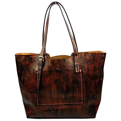 DJB/Schultertaschen Frauen Taschen Leder Handtaschen Leder Damen Schultertasche
