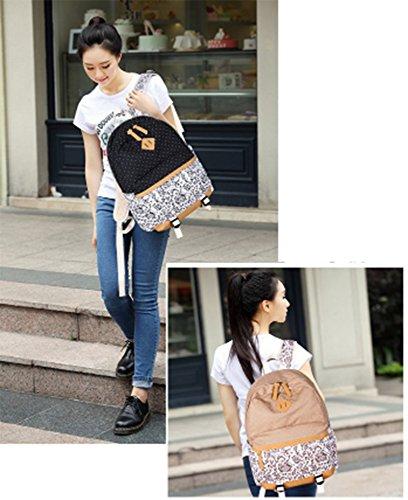 OPSUN - Bolso mochila  para mujer azul azul Taille Unique negro