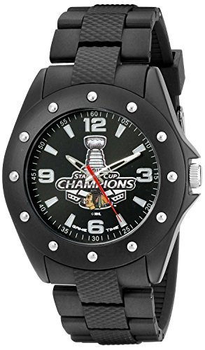 Game Time Men's NHL-BKA-CHI-CH15 NHL- The Stanley Cup 2015 Championship- Chicago Blackhawks Analog Display Japanese Quartz Black Watch