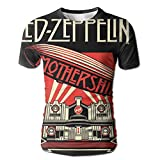 XINSHOU Zeppelin Mothership Men's 3D All Print Short Sleeve Tshirt M