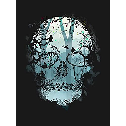 Attractive DKISEE Dark Forest Skull Canvas Wall Art Prints 12 X 16 Inch Framed Modern  Decor Paintings Artwork For Living Room And Bedroom Decorations