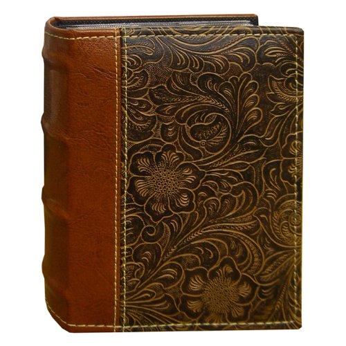 Pioneer álbumes de fotos en relieve de desplazamiento 100-pocket cosido piel sintética 2-Tone para álbum de fotos, color marrón color marrón Pioneer Photo Albums NE4-100/BN