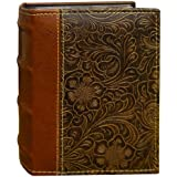 Pioneer Photo Albums 100-Pocket Scroll Embossed Sewn Leatherette 2-Tone Cover Photo Album, Brown
