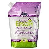 Ultra Epsom Premium Scented Epsom Salt, Lavender, 5 lb Bag