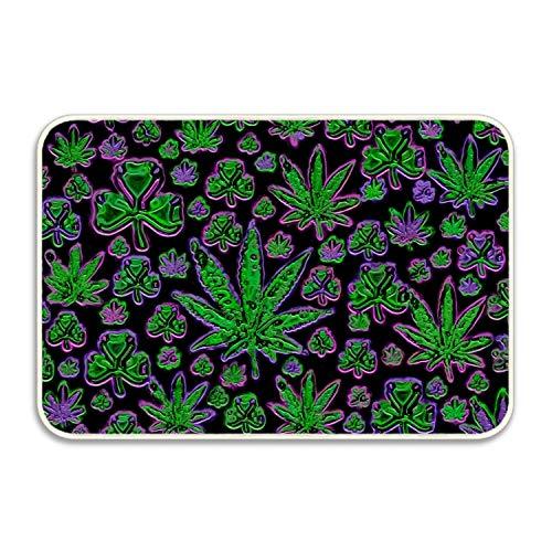 huangyan Color Weed Leaves Rug Non-Slip - Living, Dining, Room, Pet & Kitchen Rug 20