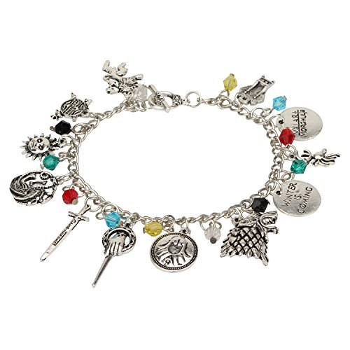 Accessorisingg Game of Thrones Inspired Multiple Charm Bracelet (Doctor Who Inspired Halloween Costumes)