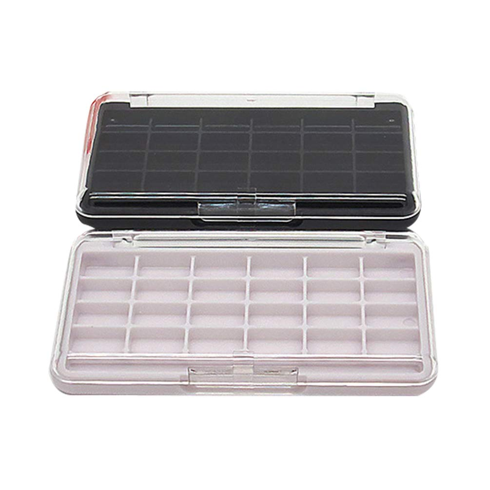 Lurrose 2PCS Empty Makeup Palette with 24 Grids for Lipstick Lip Balm Eyeshadow Blusher