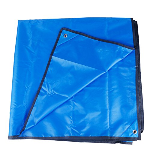 Venoro Camping Tarp, 7 x 7 FT Oxford Waterproof Picnic & Beach Mat Lightweight Ground Cover Mutifunctional Tent Tarp with Drawstring Carrying Bag for Outdoor, Hiking, Sunshade (Blue)