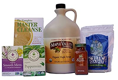 Maple Valley 16 Day Organic Master Cleanse Lemonade Detox/ Diet Kit with Book The Complete Master Cleanse