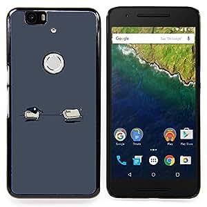 """Qstar Arte & diseño plástico duro Fundas Cover Cubre Hard Case Cover para Huawei Google Nexus 6P (Ctrl Esc - Gracioso"""")"""