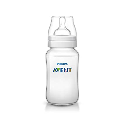 Philips Avent SCF566/17 - Biberón Classic+ de 330 ml, tetina de flujo para recién nacidos, anticólico, color blanco
