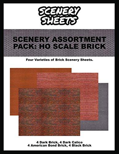 HO Scale Brick Paper Assortment Pack