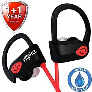 Workout Headphones - UPGRADED 2018 - Sport Headphones - Wireless Headphones - Best Wireless Earbuds - Running Headphones - Waterproof Headphones - IPX7 - w/ Mic Noise Cancelling - for Women Men