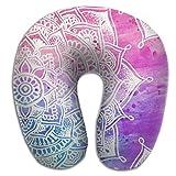 Mandala Kaleidoscope Brace Neck Pillow Spa Memory Foam U-SHAPE Help Neck Pain Man