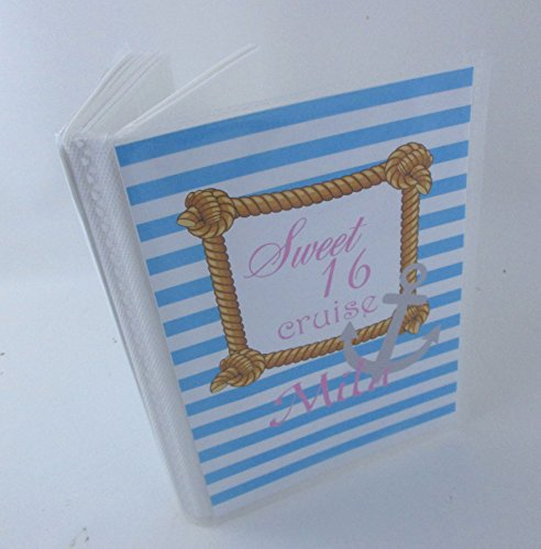 Nautical Photo Album . 524. 4x6 or 5x7 pictures, blue and pink- sweet sixteen, anniversary, engagement, family reunion cruise