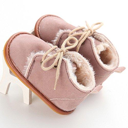 Zapatos de bebé Auxma Zapatos de bebé, Bebé niño infantil nieve Botas zapatos suela de goma cuna Prewalker Marrón
