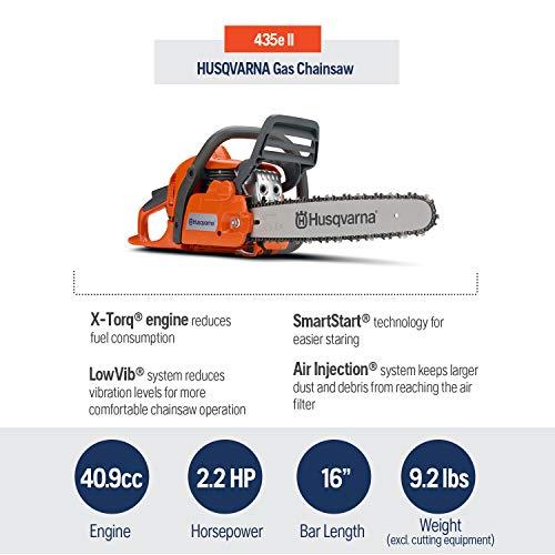 Husqvarna 16 Inch 435e II Gas Chainsaw