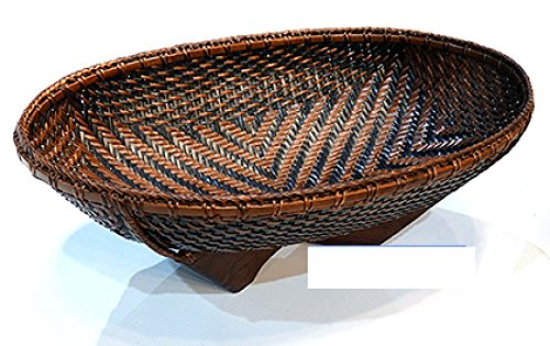 Thai bamboo weaving basket by Hand made