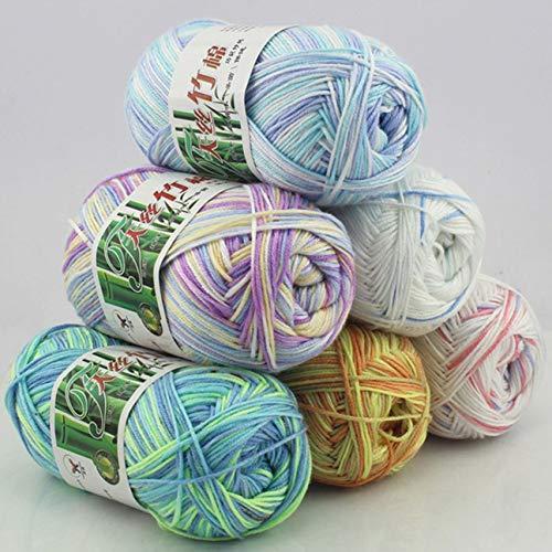 Soft Tencel Yarn Multi Strand Thread Hand Knitting Yarn Crochet Baby Yarn Wool Woven Bamboo Cotton Silk Line ()