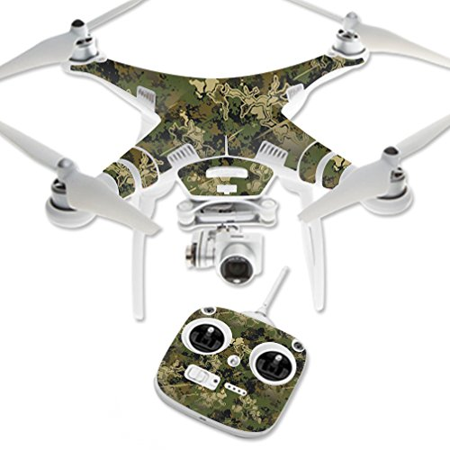 MightySkins Skin Compatible with DJI Phantom 3 Standard Quadcopter Drone wrap Cover Sticker Skins TrueTimber Viper Woodland ()