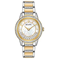 Floating Swarovski Crystals Turnstyle Watch