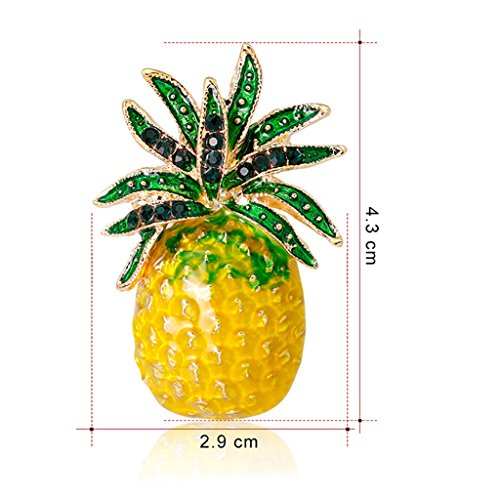 Datuun New Pineapple Brooch Pins Fruit Jewelry Cute for Women Suit Fashion Gift Corsage by Datuun (Image #1)