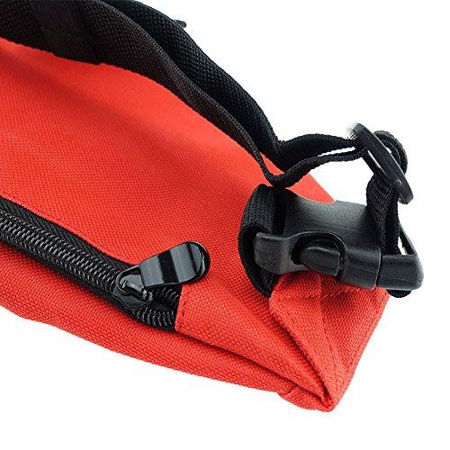 Unisex Men Women Fashion Sporty Multi purpose 2 Zipper Waist Belt Bag Fanny Pack Adjustable Strap for Sport Hiking Traveling Passport Wallet