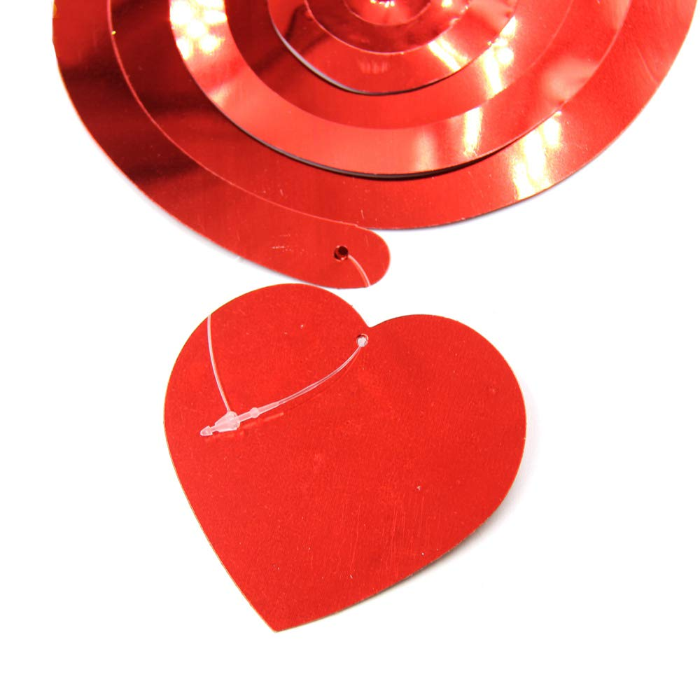 Joy Uinan Valentine Hanging Heart Swirls 18 Valentine Hanging Decorations Ceiling Hanging Swirl Accessories for Anniversary Wedding Bridal Celebration and Party Supplies