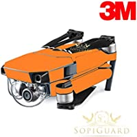 SopiGuard 3M Matte Orange Precision Edge-to-Edge Coverage Vinyl Skin Controller Battery Wrap for DJI Mavic Pro
