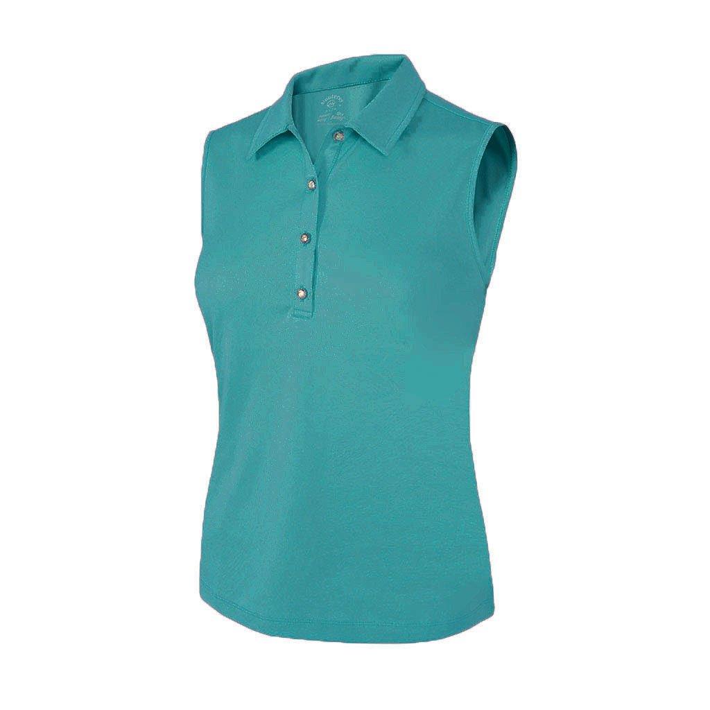 Monterey Club Ladies Dryスイング花柄エンボスノースリーブシャツ# 2095 3L Algiers Blue B075MRFWJG