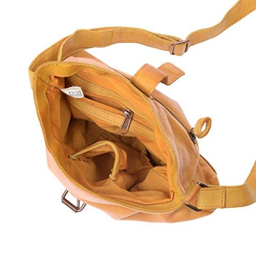 Compra Tracolla in pelle donna vintage con cinghia regolabile DUDU Saffron Yellow El Envío Libre Genuino p07ON2zIzh