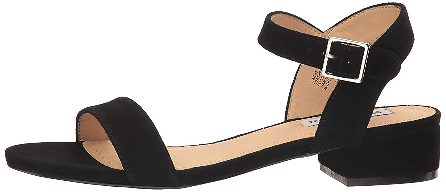 d82f3fe94a7 Steve Madden Womens Lamp Leather Open Toe Casual Ankle Strap Sandals  Amazon .ca  Shoes   Handbags