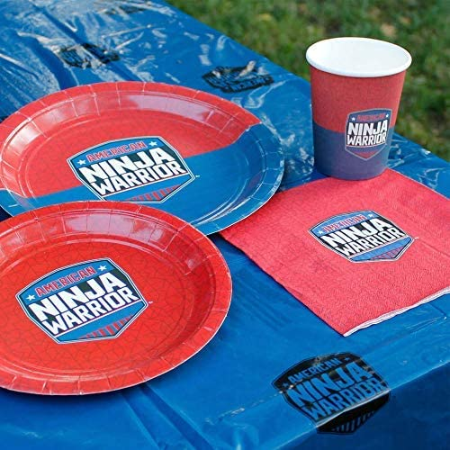 "Official American Ninja Warrior Table Cover - Perfect for Kids Parties - 42.5"" x 70.8"" - Blue - Ninja Warrior Party Supplies"