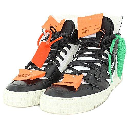 (オフホワイト)OFF-WHITE 【18SS】【3.0 Sneakers】レザーキャンバス切替ハイカットスニーカー(41/ブラック×ホワイト) 中古 B07BMYSNSP