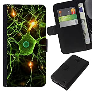 Stuss Case / Funda Carcasa PU de Cuero - Neural Cerebro Ciencia Biologšªa - LG OPTIMUS L90