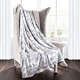 Egyptian Luxury Super Soft Faux Fur Throw Blanket - Elegant Cozy Hypoallergenic Ultra Plush Machine Washable Shaggy Fleece Blanket - 60