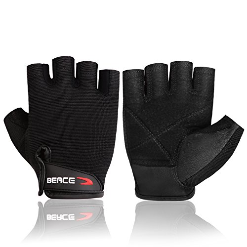 BEACE Weight Lifting Gym Gloves with Anti-Slip