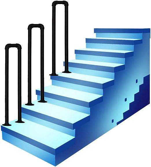Barandilla de escalera en forma de U Barandilla de escalera interior o exterior Barandilla de tubería, Barandilla de tubería galvanizada, Kit completo completo de barandilla de escalera galvanizada: Amazon.es: Hogar