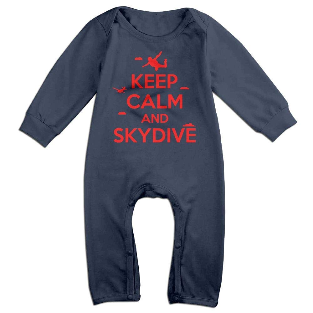 TYLER DEAN Baby Boy Coverall Keep Calm and Skydive Infant Long Sleeve Romper Jumpsuit