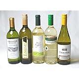 セレクション2 白ワイン5本セット (スペイン、フランス、イタリア、チリ2本)計750ml×5本