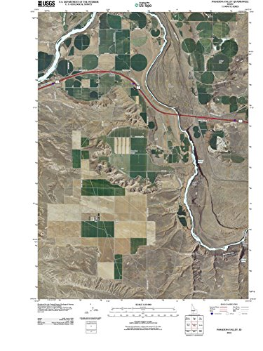 - Idaho Maps | 2010 Pasadena Valley, ID USGS Historical Topographic | Cartography Wall Art | 44in x 59in