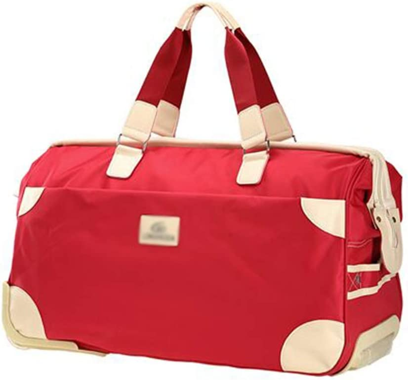 Color : Red, Size : 562836cm Travel Bags Trolley Case Splice Portable fold Waterproof Boarding Package Luggage Suitcases Carry On Hand Luggage Durable Hold Tingting